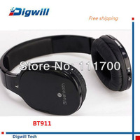 Stereo Bluetooth music Headset BT-911 wireless DJ headphone with microphone headphones pro earphone jack  free shipping