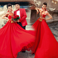 2013 luxury embroidery formal dress vintage chinese style cheongsam bride toast formal dress