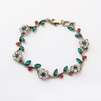 Min. order is $15(can mix)/New arrival Folk style flower bracelet