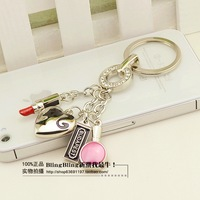 free shipping 10pcs Gentlewomen keychain hot-selling new cars keychain key ring package linked to accessories bag buckle