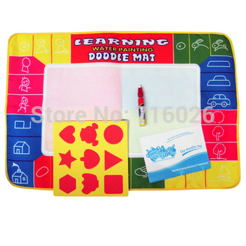 Free shipping 2013 on sales 72X49cm Big size Magic Water Doodle Mat with 1 Magic Pen/Water Drawing Mat/Water Doodle Mat CP1325NC