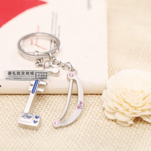 free shipping 10pairs Personalized chinese style gift chinese musical instrument erhu couple key chain key ring single(China (Mainland))