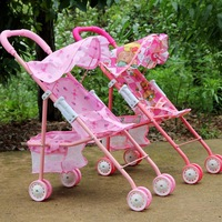 free shipping Large artificial dolls cart toy girls infant toddler children car belt glove blue