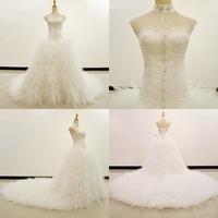 Dmw002 Dreamaker Pearls Beaded Elegant Vintage High Neck Ball Gown Wedding Dresses 2014