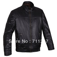 Freeshipping! New Fashion Men's Genuine Leather Jacket Cowskin Leather Men Clothes HGJ-1305
