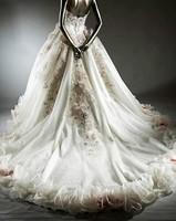 free ship 2013 bandage tube top wedding dress princess big train wedding dress xj4311