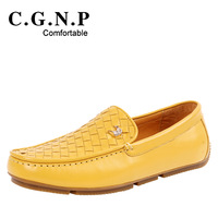 2013 gommini loafers male knitted genuine leather breathable flat the trend of fashion shoes