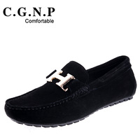 Gommini 2013 genuine leather loafers fashion trend of the male nubuck cowhide breathable single shoes