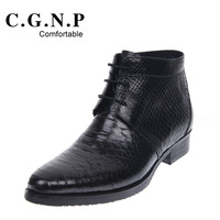 2012 winter fashion high-top shoes casual male commercial genuine leather male boots martin boots