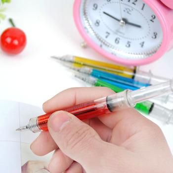 Derlook syringe pen syringe ballpoint pen stationery black refill 8018