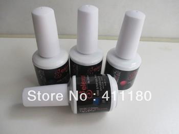 Free shipping 72 fashion colors 15ml Soak off one step 3 in 1 uv/led nail gel polish 6 pcs/lot