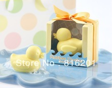 10pcs/lot Free Shipping Little Duck Shape Handmade Soap Wedding Gift, Baby Shower Hand Soaps(China (Mainland))