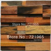 Natural wood mosaic tile rustic wood wall tiles NWMT005 kitchen mosaic tile backsplash wood panel pattern tiles