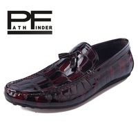 Pf 2013 breathable male gommini loafers crocodile skin comfortable casual shoes 2446 commercial