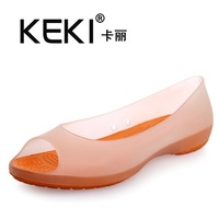 Carrie transparent keki beach hole shoes open toe For women