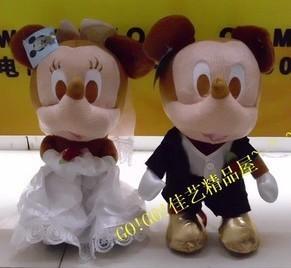 Free shipping.baby/children/kid plush toy Mickey Minnie Wedding Wedding Gifts stuffed doll