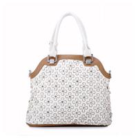 Free shipping!! Fashion cutout 2013 diamond bag rhinestone women's bag shoulder bag flower four leaf grass bag  and tote bag