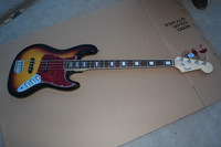 Free Shipping!! Hot Selling F Sunburst Jazz Bass 4 String Electric Bass Guitar In Stock