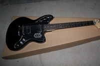 2012 New Arrival High Quality Classical Black JAGUAR Strat Standard Electric Guitar In Stock Free Shipping S033