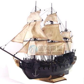 Classical wool sailboat model assembling sets - - black pearl