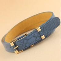 New Fashion OL Snakeskin pattern leather ladies' belts  Min.order $15 mix order
