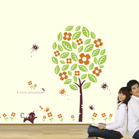 Romantic living room tv wall stickers furnishings home room decoration wall stickers