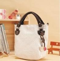Free shipping Bag sweet messenger bags vintage bag colored drawing women's tassel bucket bag handbag
