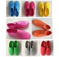 Candy color breathable hole pvc sandals hole shoes