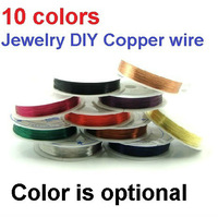 Never Fade Jewelry DIY Enameled Copper Beading Wire 0.5mm Free Shipping 6 rolls/lot