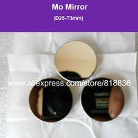 Wholesale 3pcs Co2 Laser Mirror  Mo Mirror Diameter 25mm Thicknes 3mm