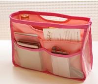 Nice gift 5 colours New  Fashion Girls Ladies Portable bag organizer makeup case Tool Phone Inner cosmetic storage bag 10pcs/lot