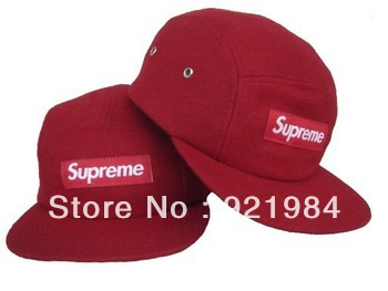 New2012 New arrival Supreme 5 Panel Camp Caps red Snapbacks hats cheap Adjustable hat freeshipping
