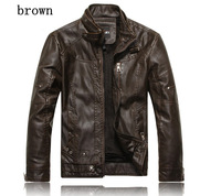 hot sale men's motorcycle leather jacket men,genuine sheepskin leather coat top quality in stock free shipping