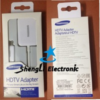 Free Shipping Newest style 1:1 Same As Original For Samsung Galaxy S4 HDTV Adapter MHL Micro USB to HDMI Cable+Retail Packaging