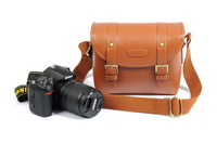 Brown Digital SLR Camera Lens Case Pouch DSLR Shoulder Messenger Bag For EPL2 J1
