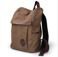 FREE SHIPPING Fashion Casual Canvas Backpack Bag Student School Zipper Bags