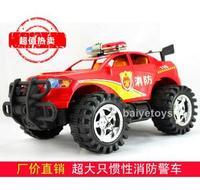 Big police car toy fire truck inertia car belt toy