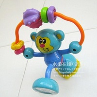 Free shipping Baby toy infantino multifunctional monkey rattles, mirror suction cup