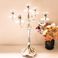 Mousse fashion metal tieyi 5 candle table wedding mousse decoration silver mousse