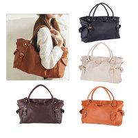 Free Shipping 2013 New Fashion Lady OL Fashion Women Lady PU Leather Handbag Big Capacity Tote Bag Satchel Shoulder Bag Satchel