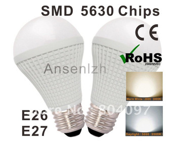 Indoor use, High quality LED light bulb E27 base Comply with CE&RoHS certificate, Ultra bright LED saving bulb + free shipping(China (Mainland))