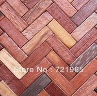 Natural wood mosaic tile rustic wood wall tiles NWMT017 kitchen backsplash wood panel wave wood pattern mosaics tiles
