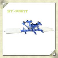 4 Colors 2 stations Manual Screen Printing Machine