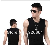 Free shipping, Men's Vest 2013 New Style Sports Vest With Slim vest,Factory outlets