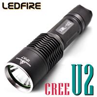 Led glare flashlight u2 led headlamp charge 18650 q5u2u3l2 waterproof