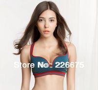 Fashion Women Sports Bra Comfortable Seamless Push Up Bra 3/4 Cup Cotton Intimates