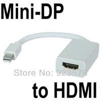 WHOLESALE 10pcs/lot Mini DP DisplayPort to HDMI Adapter For MacBook