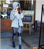 2013 New Fashion Cotton leather stitching personality leggings Korean Leggings