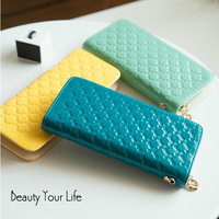 Free shipping New Fashion Women Clutch Bag Lady Purse Bag Card Bag Leather Bag