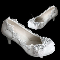 2014 women's Rhinestone high-heels single wedding shoes crystal bride lace shoes